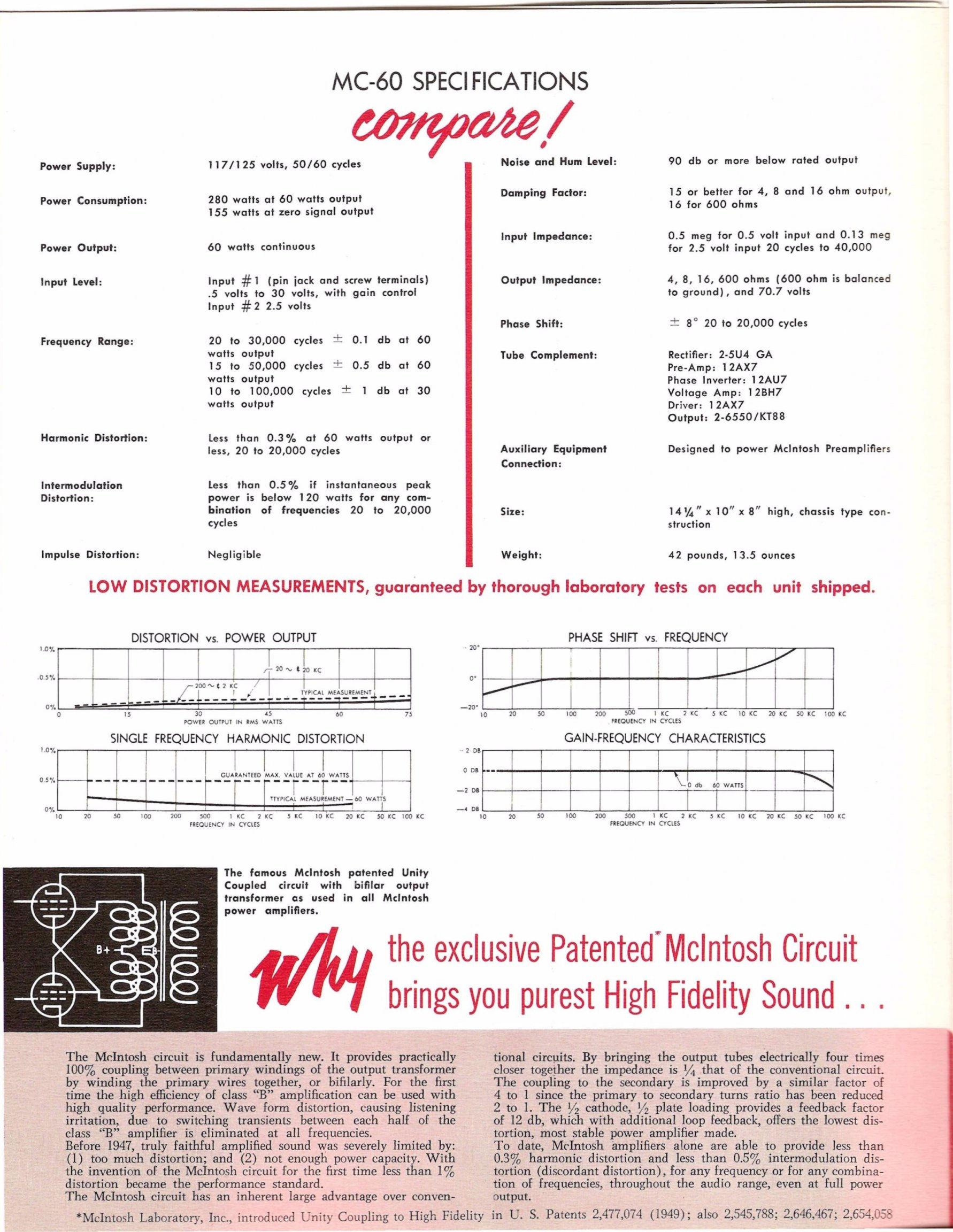 forum mcintosh mc 60 monophonic power amplifier 1955 58 rh fusoelektronique org
